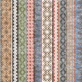 Vintage Ethnic geometric motifs background with transparent effe. Vintage Ethnic colorful geometric motifs background with transparent effect Vector Illustration