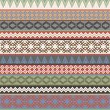 Vintage Ethnic geometric motifs background. Vintage colorful Ethnic geometric motifs background Vector Illustration