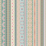 Vintage ethnic seamless backdrop. Boho stripes. Striped vintage boho fashion style pattern background with tribal shape. Elements. Texture with geometrical Royalty Free Stock Images