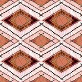 Vintage ethnic seamless pattern texture dark on bright background stripe Royalty Free Stock Photos