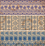 Vintage ethnic set of banners Stock Images