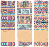 Vintage ethnic set of banners Royalty Free Stock Image