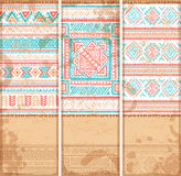 Vintage ethnic set of banners Royalty Free Stock Images