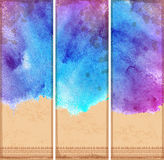 Vintage ethnic set of banners Royalty Free Stock Photography