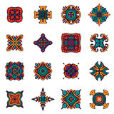 Vintage ethnic tribal  design ornamental tiles. Set of vector graphic abstract damask ornamental designs. Luxury royal pattern. Vintage design ethnic tribal Royalty Free Stock Image