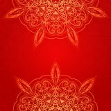 Vintage ethnic vector ornament mandala background Royalty Free Stock Photos