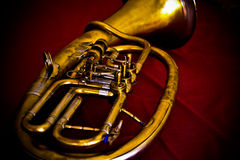 Vintage euphonium tuba Royalty Free Stock Photo