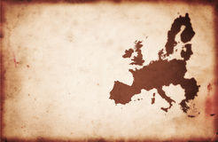 Vintage Europe Map Stock Images