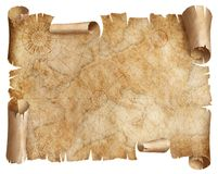 Vintage Europe map parchment isolated on white. Based on image furnished from NASA. royalty free stock photos