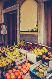 Vintage European Fruit Market Royalty Free Stock Photos