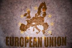 Vintage european union map Royalty Free Stock Photos