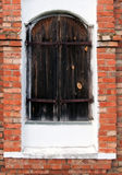 Vintage European wooden window shutters Stock Image