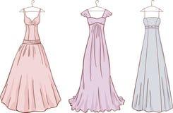 Vintage evening dresses Stock Photo