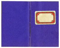 Vintage exercise book purple Stock Photos