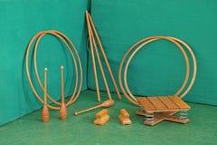Vintage exercise equipment Stock Photo