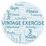 Vintage Exercise word cloud stock photos