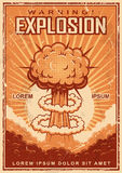 Vintage explosion poster Royalty Free Stock Photography