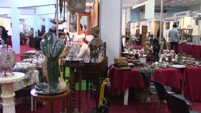 Vintage exposition. Event in Bucharest stock video