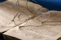 Vintage eyeglasses Royalty Free Stock Images