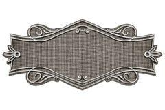 Vintage fabric frame isolated on white background stock illustration