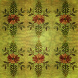 Vintage Fabric Texture With Flowers And Vines Royalty Free Stock Image