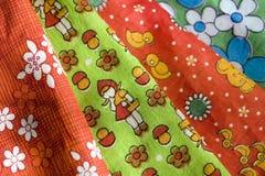 Vintage fabrics royalty free stock image