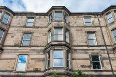 Vintage facades in Edinburgh Stock Image