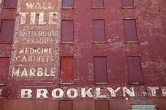Vintage factory at Brooklyn Stock Images