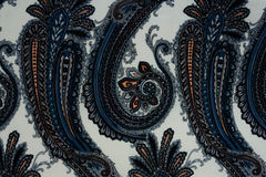 Vintage faded paisley fabric texture Stock Images