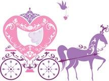 Vintage fairytale horse carriage isolated Stock Photos