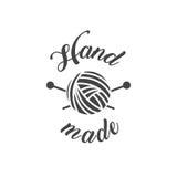 Vintage fait main de logo d'atelier Photos libres de droits
