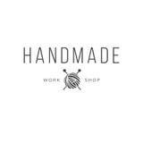 Vintage fait main de logo d'atelier Photo stock