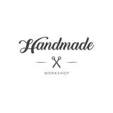 Vintage fait main de logo d'atelier Image libre de droits