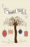Vintage family frames tree Stock Image
