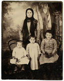 Vintage family portrait. Royalty Free Stock Images