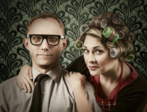 Vintage family portrait Royalty Free Stock Images
