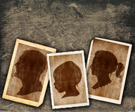 Vintage family portraits Royalty Free Stock Image