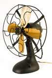 Vintage fan. Object Shot of a classy vintage electric fan isolated against white Stock Images