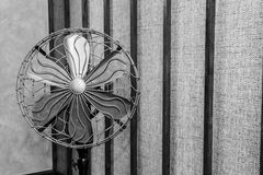 Vintage fan black and white Stock Photo