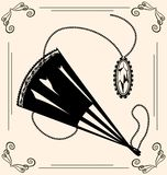 Vintage fan and jewel Royalty Free Stock Photo