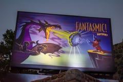 Vintage Fantasmic sign at Hollywood Studios. Orlando, Florida. June 06, 2019. Vintage Fantasmic sign at Hollywood Studios royalty free stock image