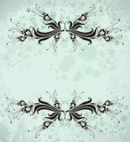 Vintage fantasy frame. With abstarct flowers,  format Stock Photography