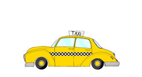 Vintage fantasy yellow cab Stock Image