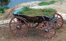 Vintage farm cart  . Stock Image