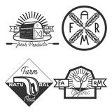 Vintage farm emblems. Set of Vintage farm emblems, labels and badges Stock Photos