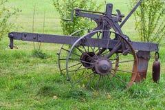 Vintage Farm Equipment. Closeup of a sample of vintage farming equipment Stock Photos