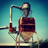 Vintage farm grain. Industrial retro country Downton Frisco texas Royalty Free Stock Photos