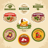 Vintage farm labels Royalty Free Stock Photography