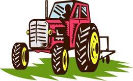 Vintage farm tractor Stock Photos