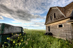 Vintage Farm Trucks. Saskatchewan Canada weathered and old Stock Images